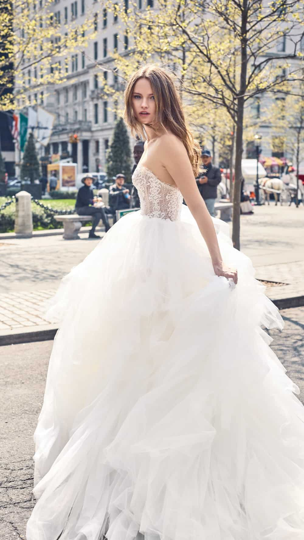 Bliss Monique Lhuillier Strapless Ball Gown Wedding Dress