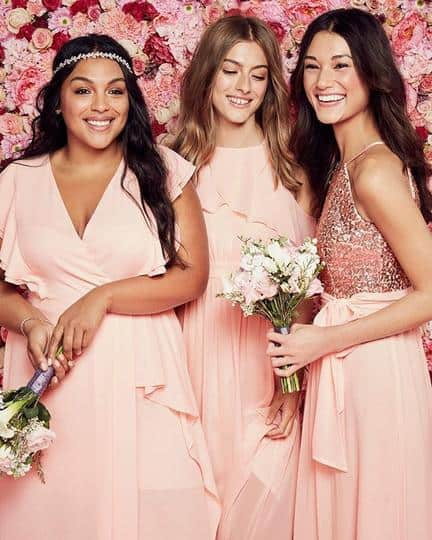 c28679bf544 affordable blush bridesmaid dresses from David s Bridal
