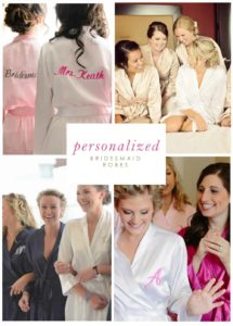 Personalized Matching Robes for Bridesmaids