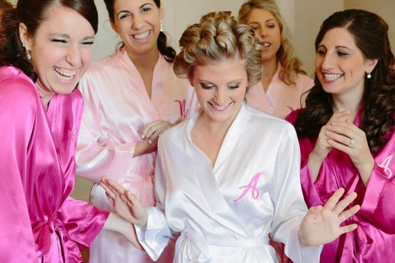monogram robes for bridesmaids and brides