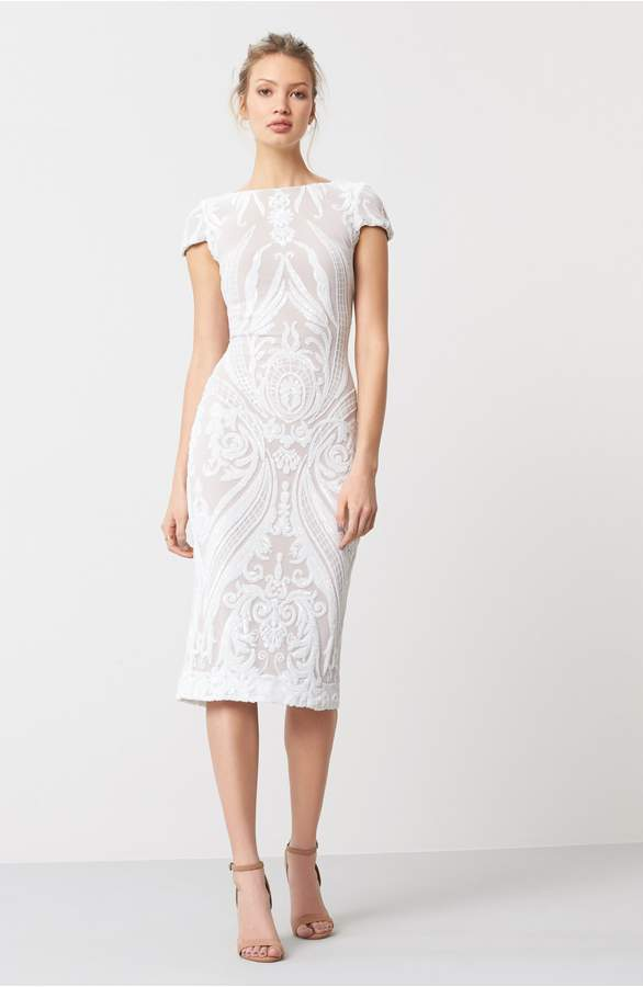 white midi dress for vow renewal