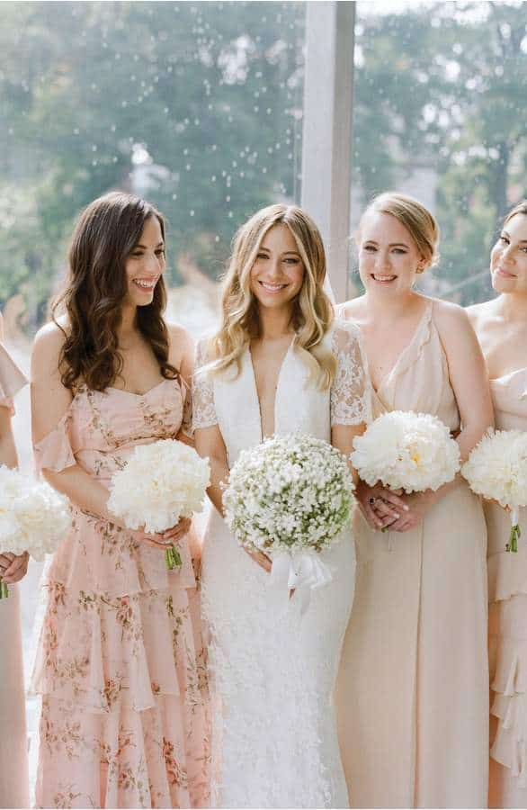 wayf bridesmaid dresses with mix and match