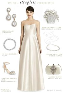 How To Accessorize a Strapless Wedding Dress