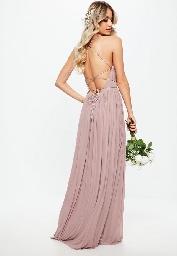 mauve maxi dress under 80 for bridesmaids