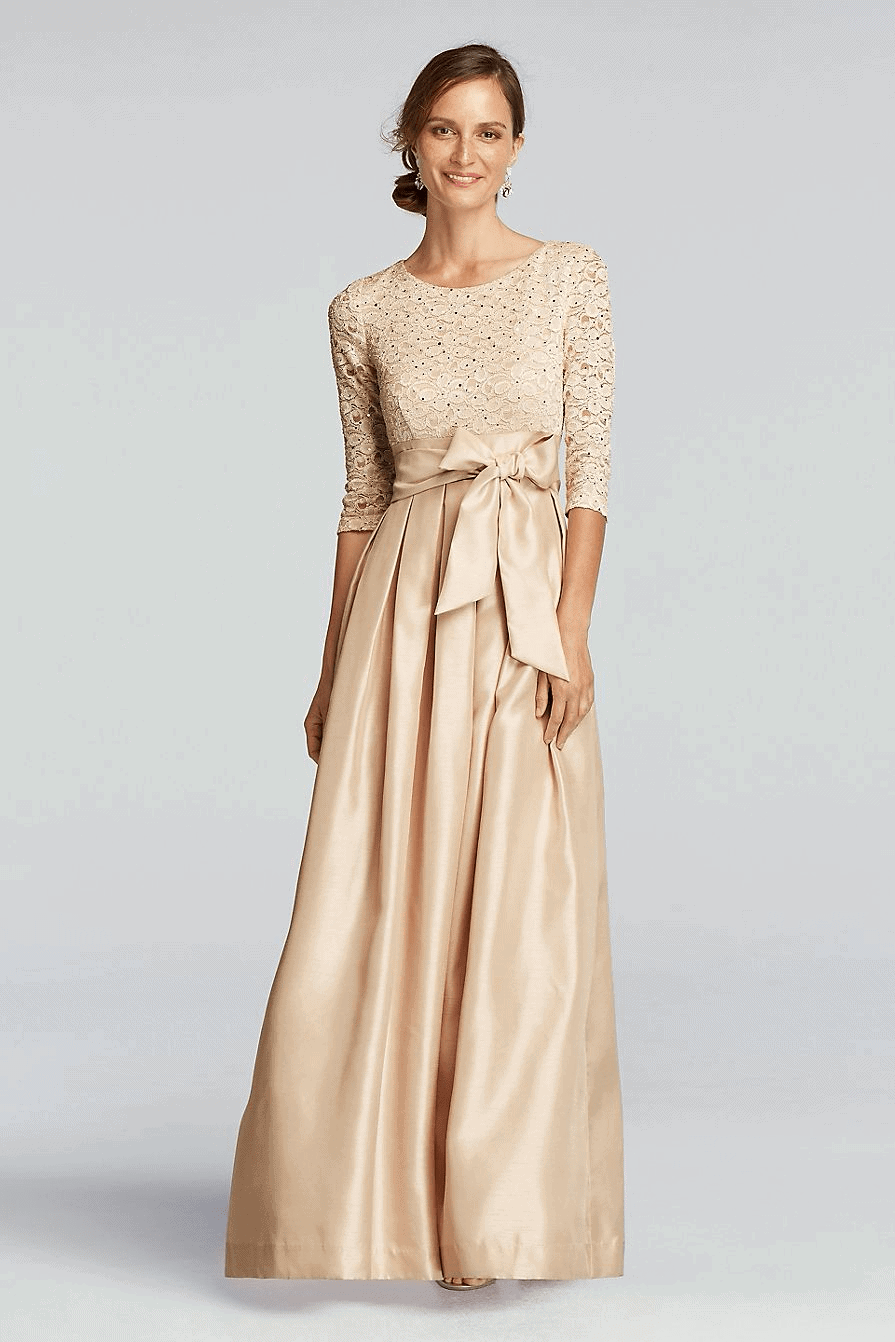 Gold mother of the bride dresses dress for the wedding for Pinterest wedding dresses for mother of the bride