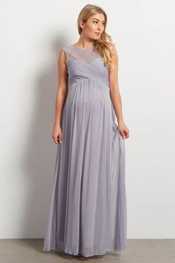 mauve formal gown to wear during pregnancy