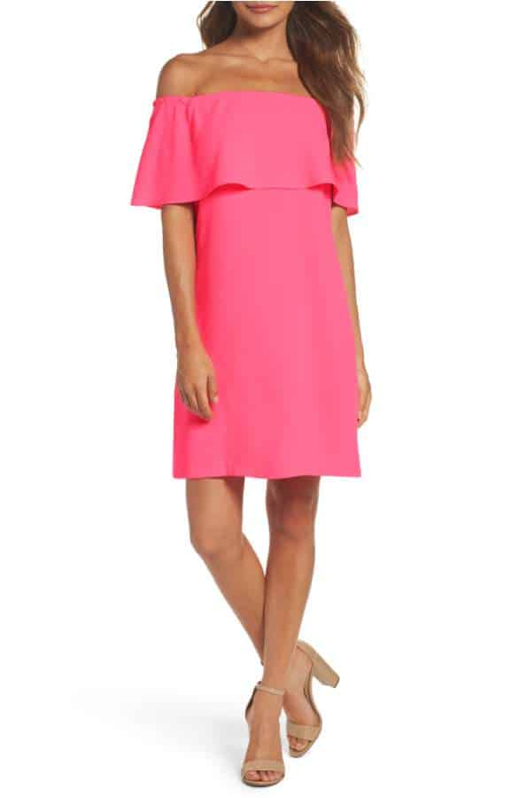 pink wedding guest dress for a casual wedding