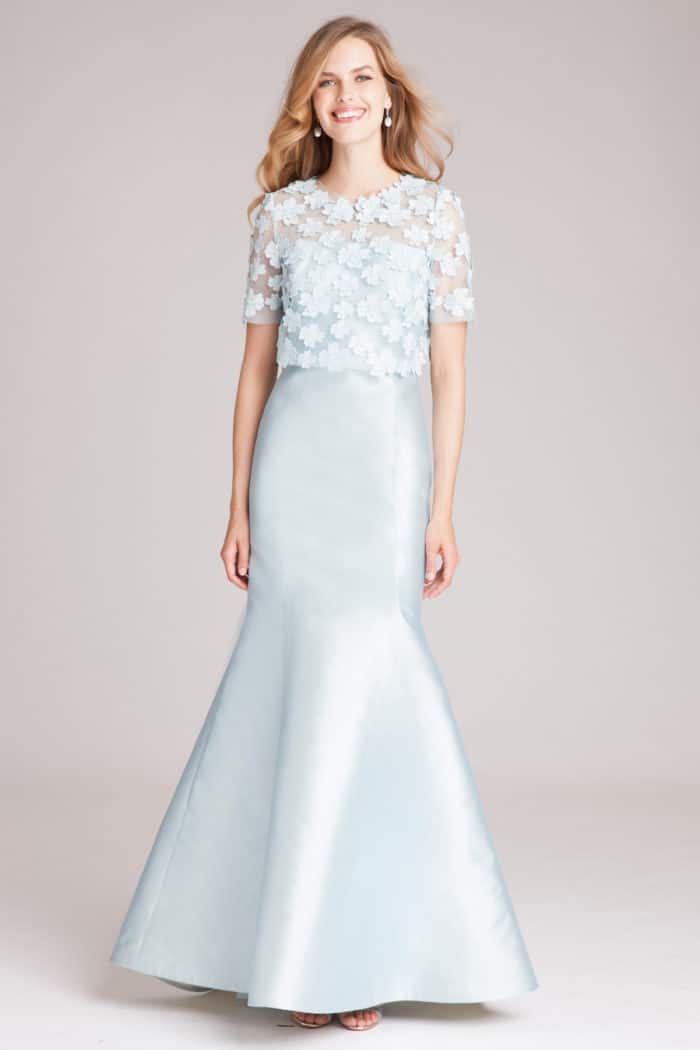 light blue mother of the bride gown by teri jon