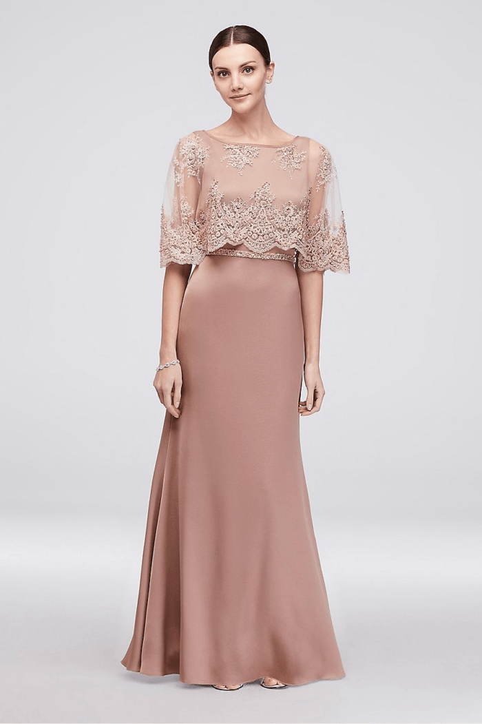 mother of the bride in rose gold