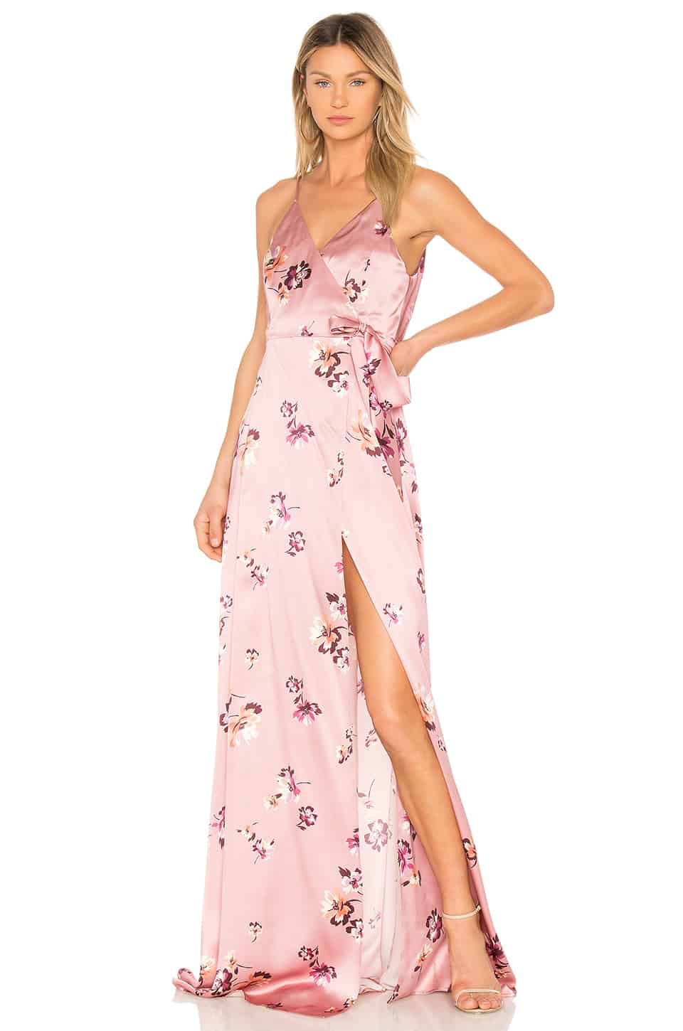 Pink gown for wedding attire