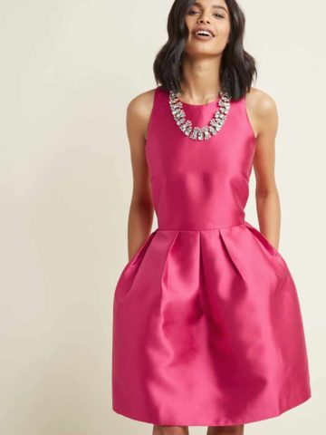 pink wedding guest dress