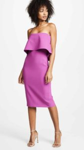 purple strapless dress for wedding guests