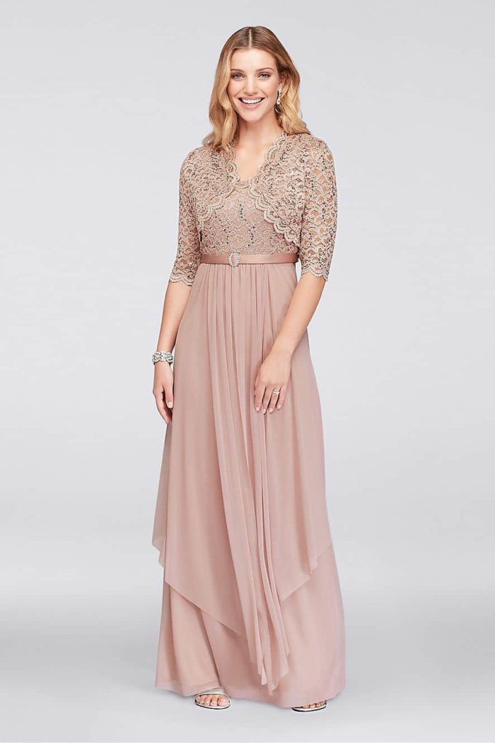 Rose Gold Mother of the Bride Dresses