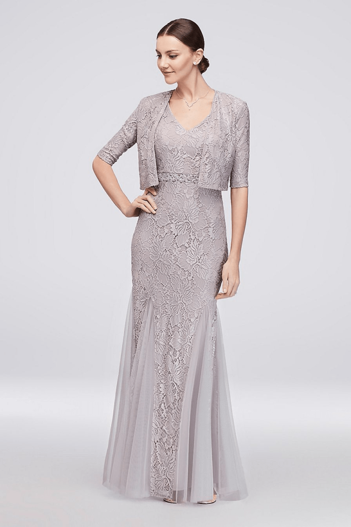 Silver Or Gray Mother Of The Bride Dresses