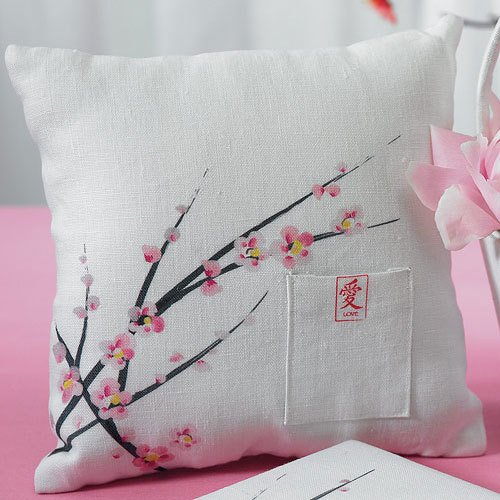 Cherry Blossom Wedding Ring Bearer Pillow