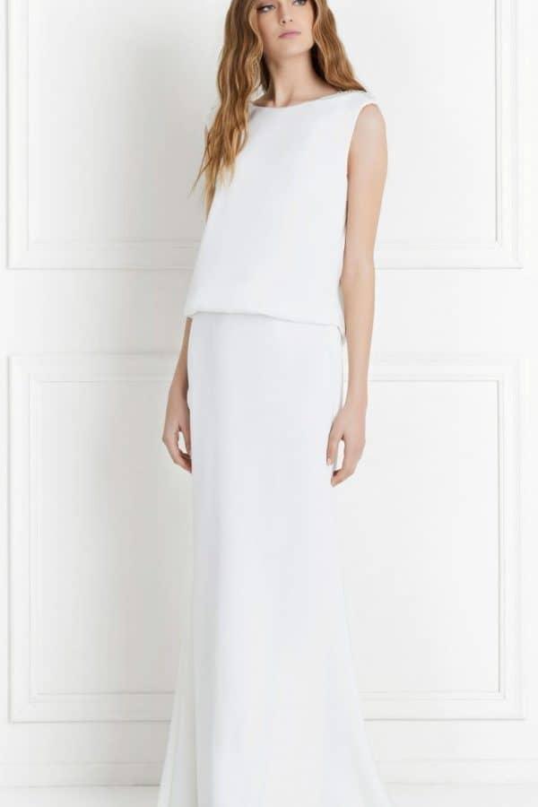 Ava Satin Wedding Dress by Rachel Zoe