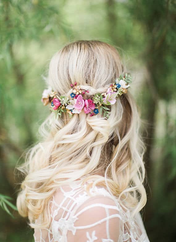beautiful floral hair clip for wedding