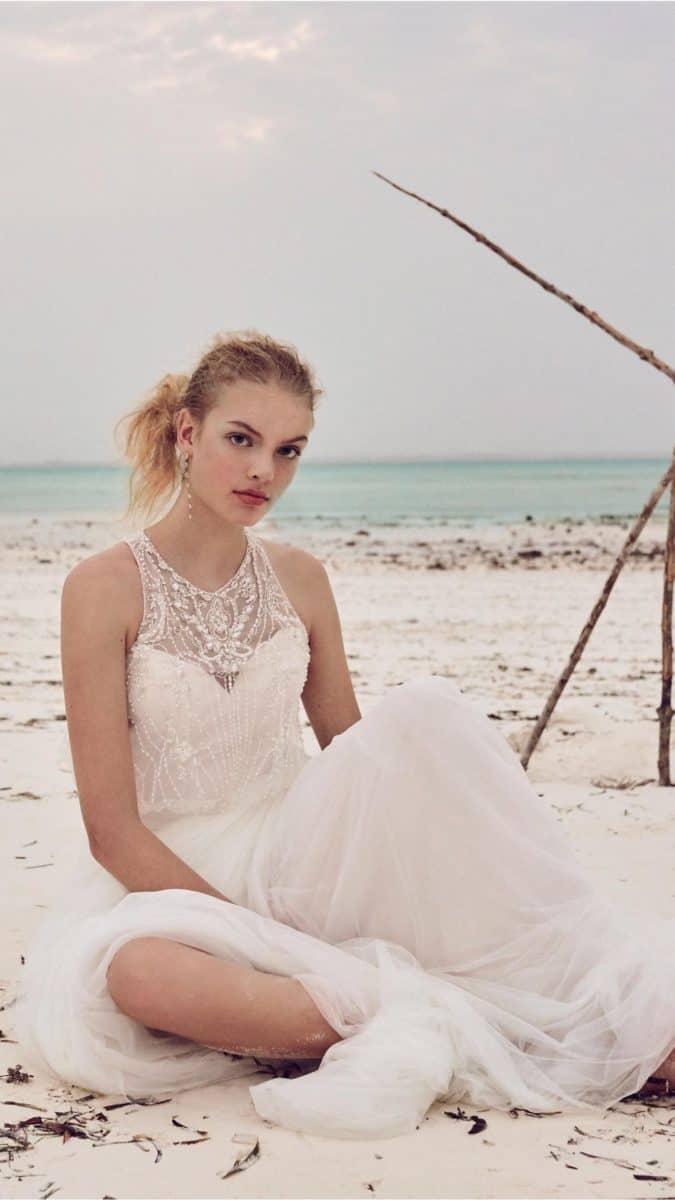 boho beach wedding dress from bhldn