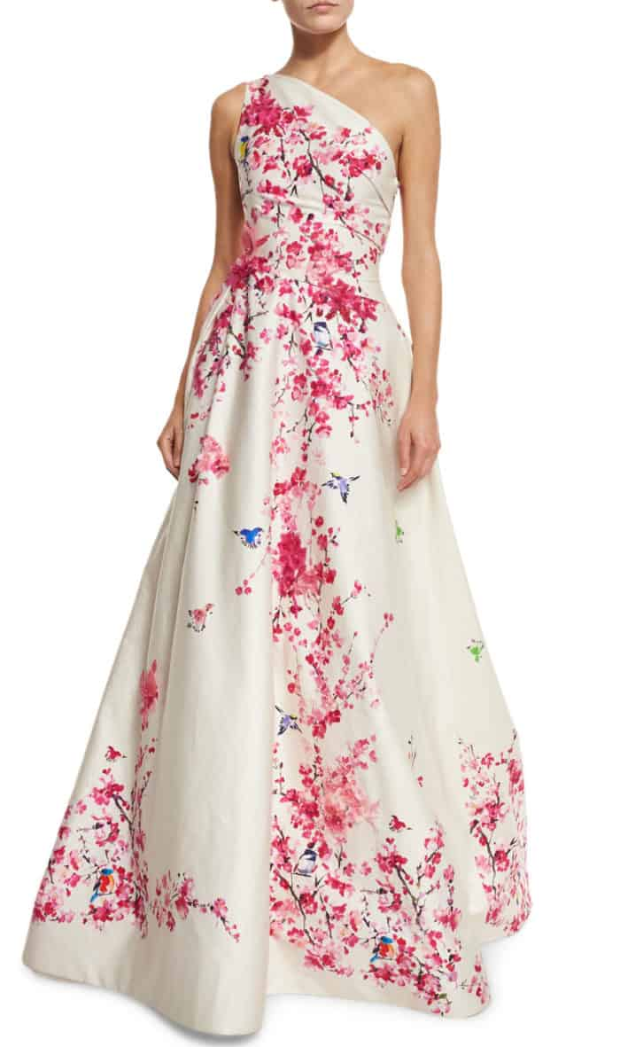 cherry blossom ball gown by Monique Lhuillier