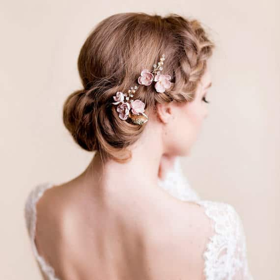 Florentes Wedding Hair Accessories Cherry Blossom Hair Comb