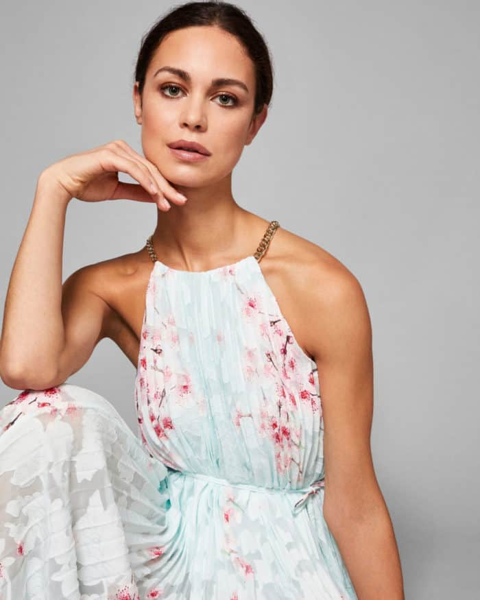 cherry blossom maxi dress by ted baker