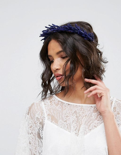 lavender floral crown for a wedding