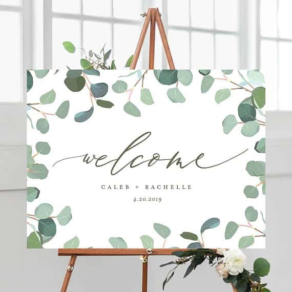 eucalyptus wedding sign
