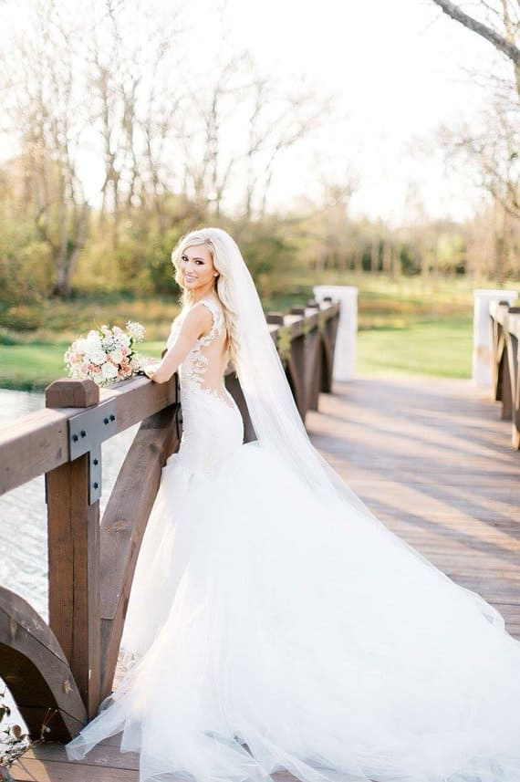 full tulle cathedral length wedding veil