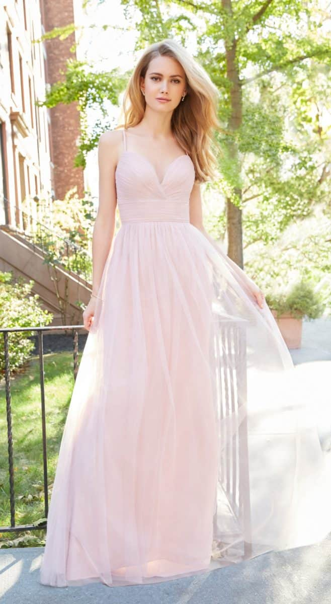 Blush Tulle Bridesmaid Dresses
