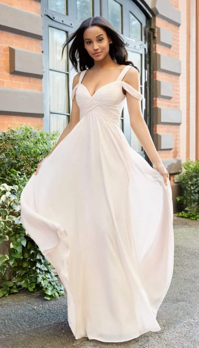 Hayley Paige Off the shoulder Bridesmaid Dress