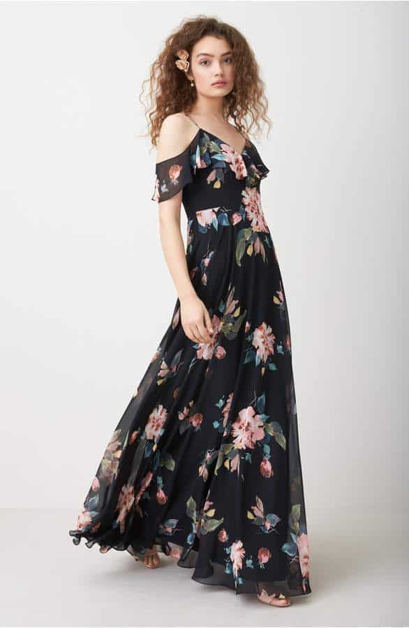 floral jenny yoo bridesmaid dress 2018