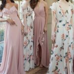 pink and floral jenny yoo mix and match bridesmaid dresses