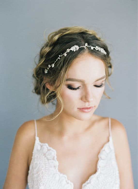 crystal floral halo
