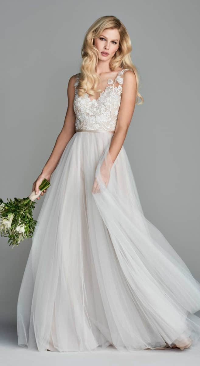 Lace bodice net wedding dress Juno Wtoo Wedding Dress