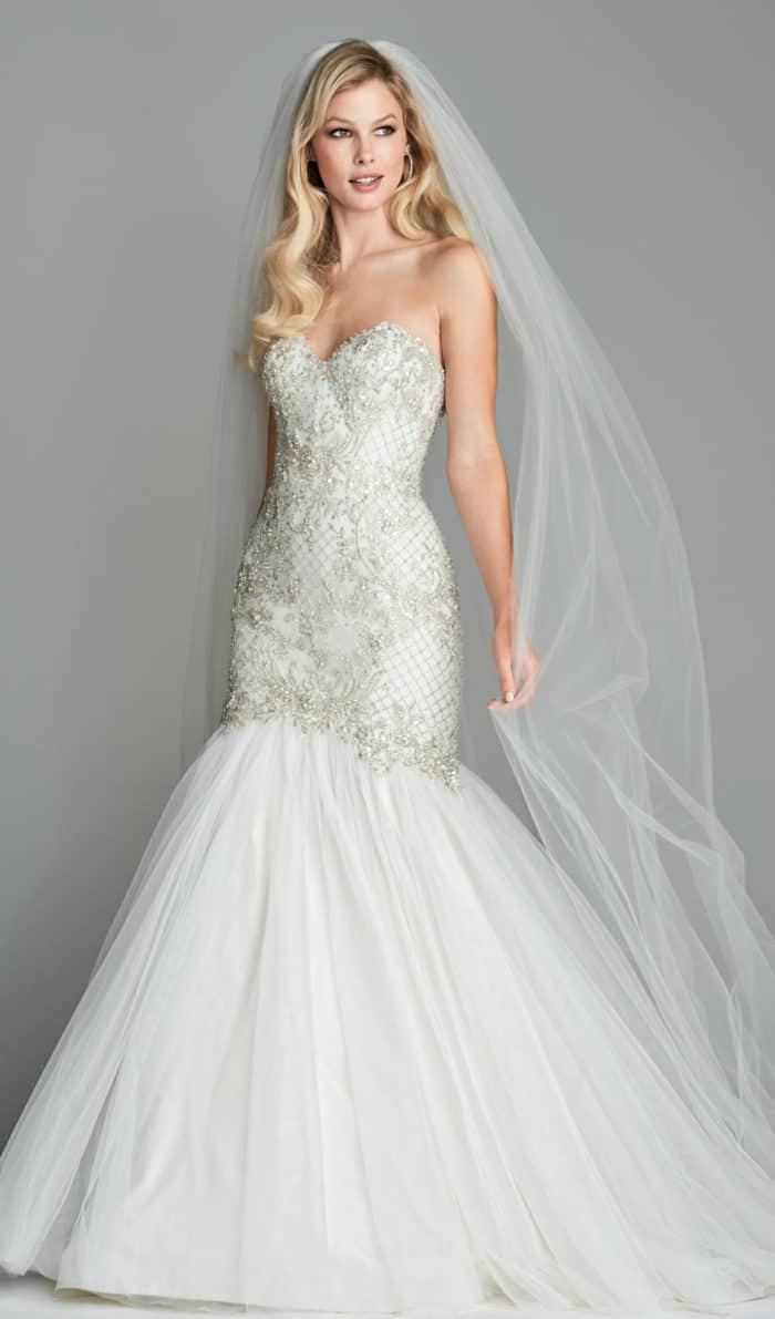 Mermaid embellished wedding dress Lindell Wtoo
