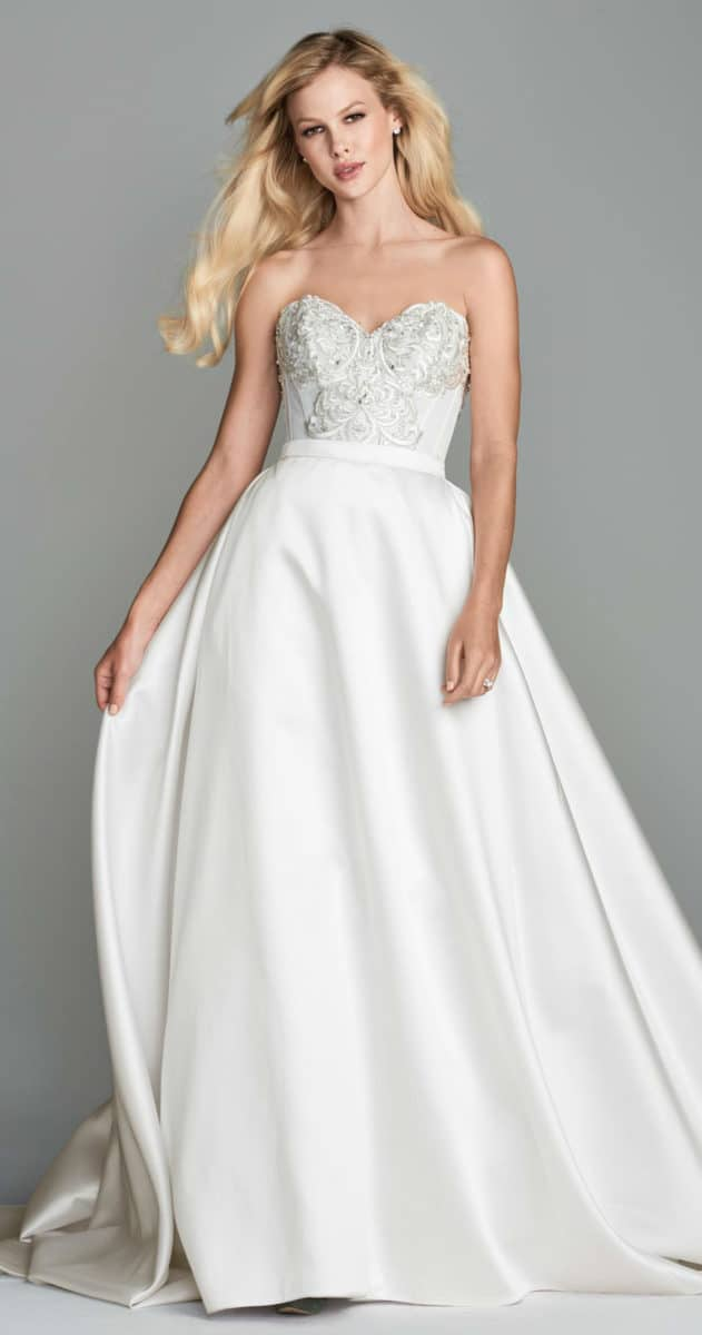 Ball gown silk wedding skirt wtoo marvista