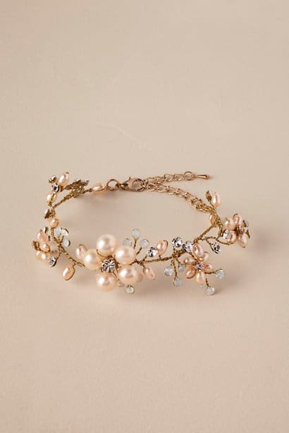 pink blossom wedding bracelet