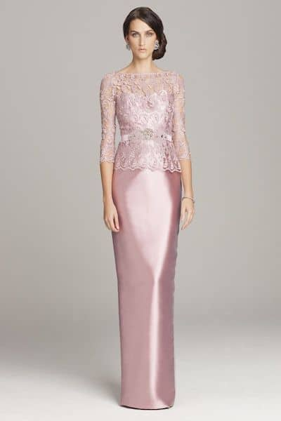 teri jon pink evening gown
