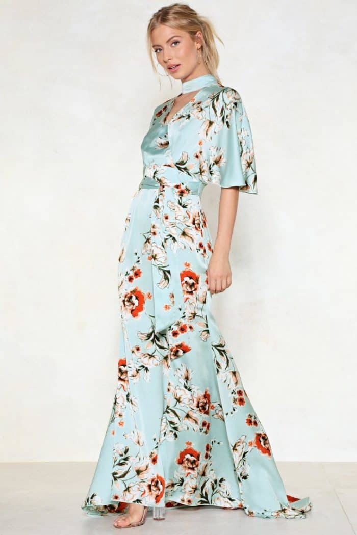 floral maxi dress fto wear to a wedding under 100