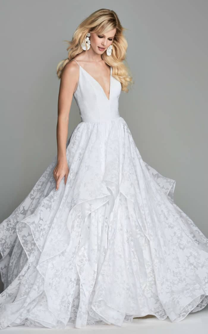 Floral ballgown wedding dress Langdon Wtoo