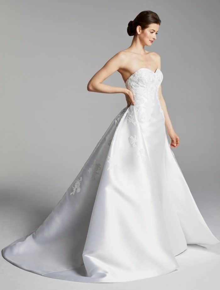 Bianca wedding dress with overskirt by Blue Willow