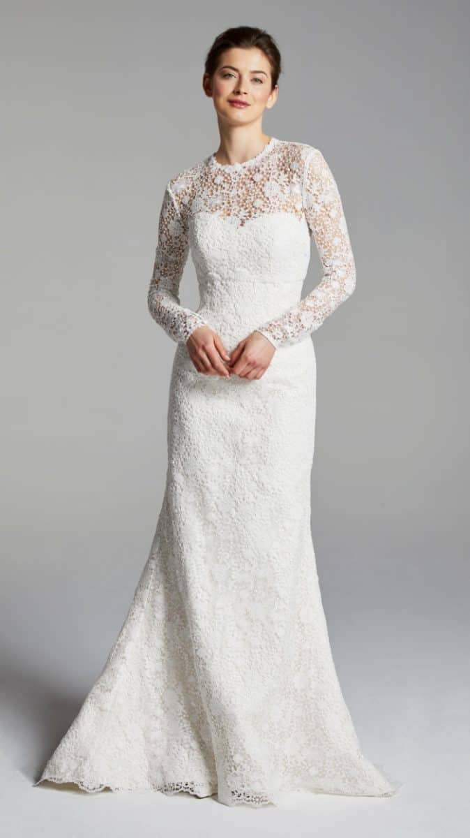 Keaton Wedding Dress with long sleeve topper by Blue Willow 2019