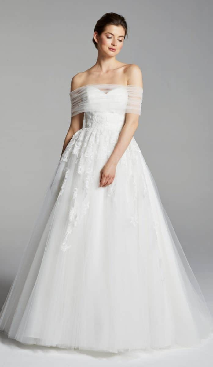 Rossi wedding dress blue willow