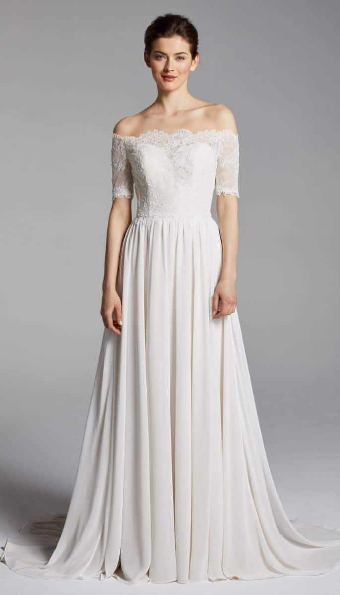 Winslett wedding dress Blue Willow Anne Barge