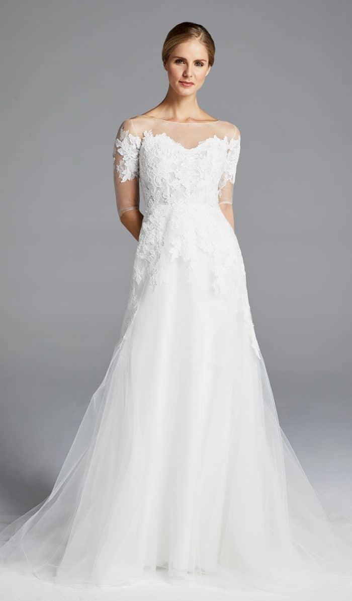 anne barge rossallini wedding dress