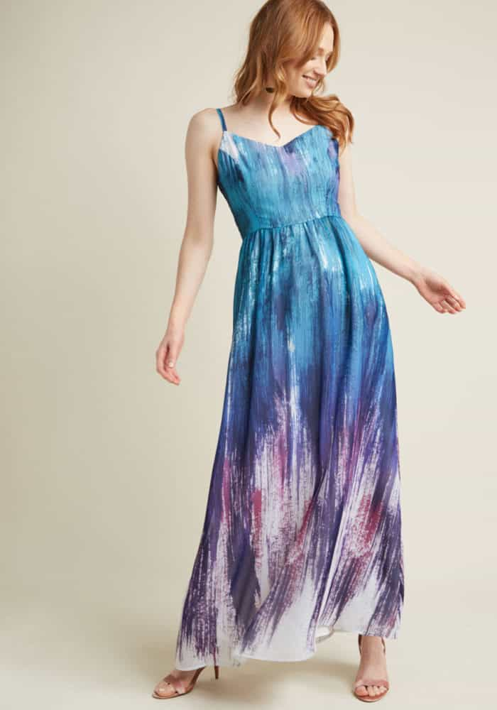 a3cde62151c blue print maxi dress for beach wedding guest dress