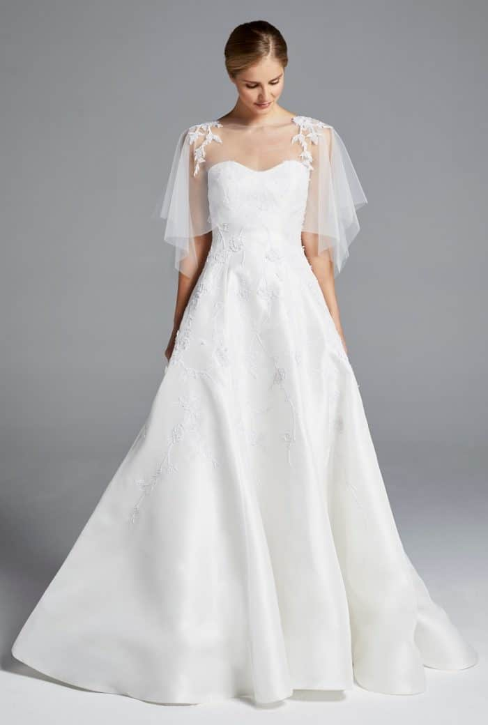 cape wedding dress anne barge