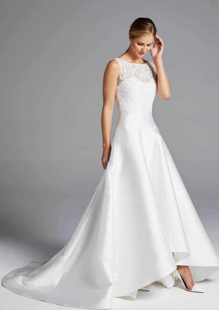 high low hem wedding dress mindy anne barge