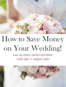 how to save money on wedding attire and decor