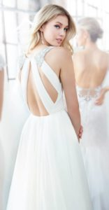 Kona Blush by Hayley Paige beautiful beaded strap open back wedding dress